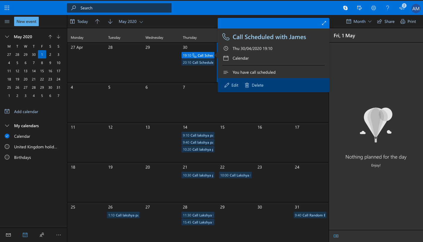 Outlook Integration: EasyCalendar